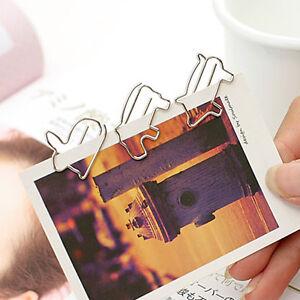 Novelty-Animal-Shape-Paper-Clip-Bookmark-Metal-Set-20-pcs-Dog-Cat-Penguin-Duck