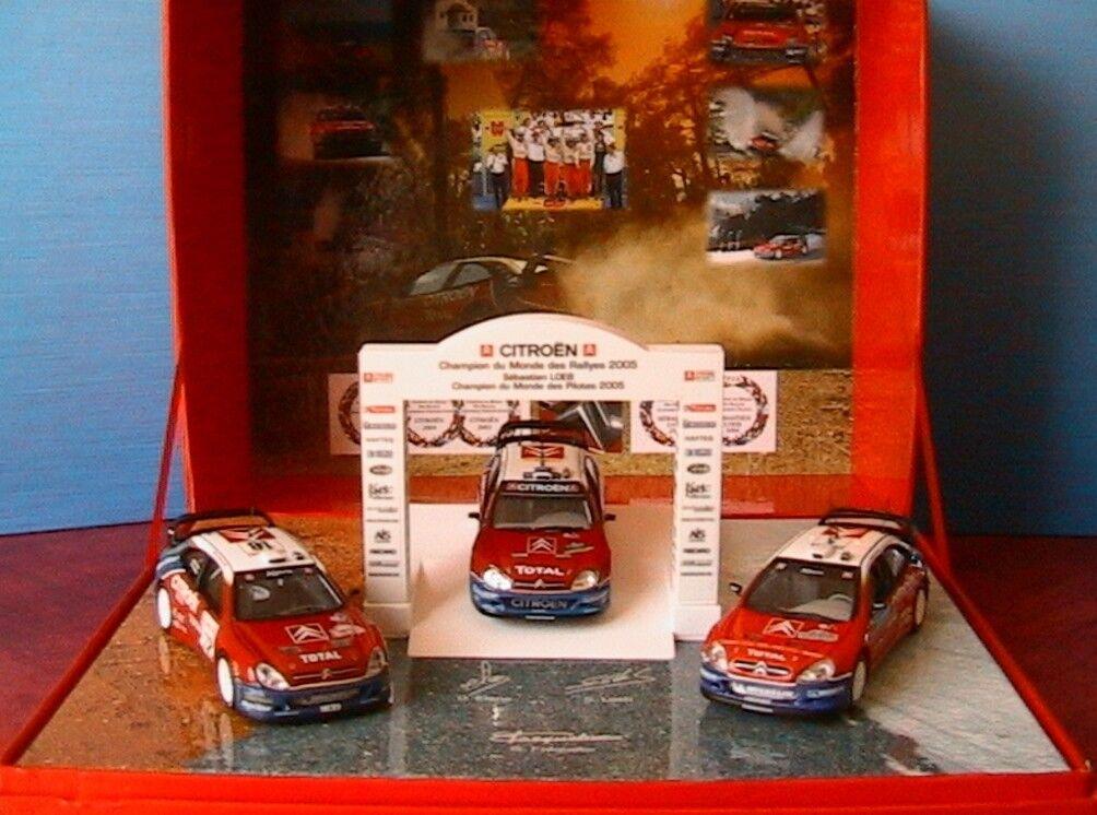 Coffret citroen xsara wrc dreifach - champion monde rallye 2003-4-5 loeb norev 1   43