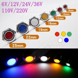 Signalleuchte LED 22mm 230V AC//DC GRÜN Kontrolleuchte//Signallampe//Warnlampe