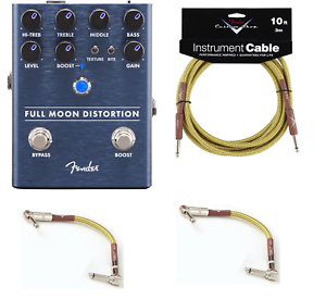New Fender Full Moon Distortion Guitar Pedal Free Fender Cables