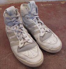 '80S VTG PATRICK EWING ADIDAS HI TOP BASKETBALL SHOES Made in FRANCE sz 10