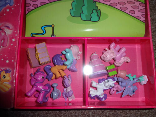 MY LITTLE PONY-WELCOME TO PONYVILLE BUSY Book 12 figurines-UK Stock