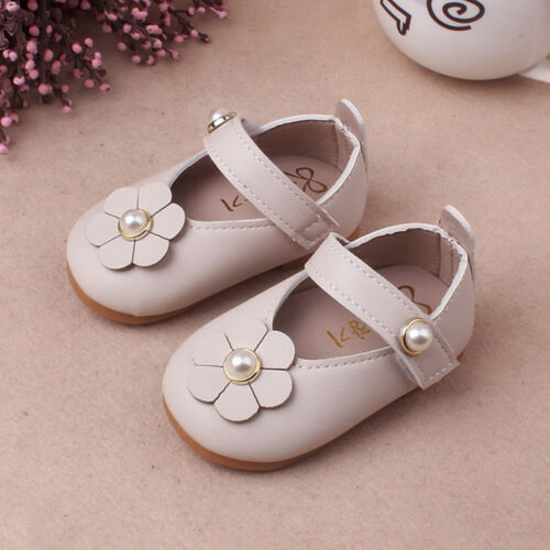 Children Baby Kid Girl Soft Princess Crib Shoes Sneakers Leather Party Prewalker