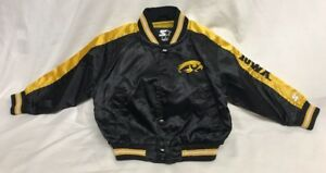 Vintage-Iowa-Hawkeyes-sewn-Starter-JACKET-Toddler-size-3T
