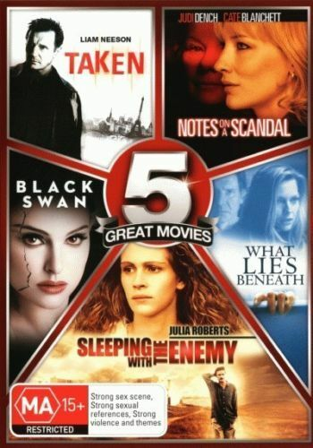 DVD: Taken, Notes on a scandal, Black Swan, What Lies Beneath, BRAND NEW & SEALE