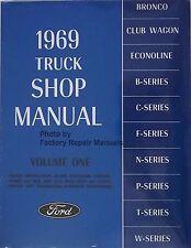 1969 Ford Truck Bronco Econoline Factory Shop Service Manual Complete Repair Set