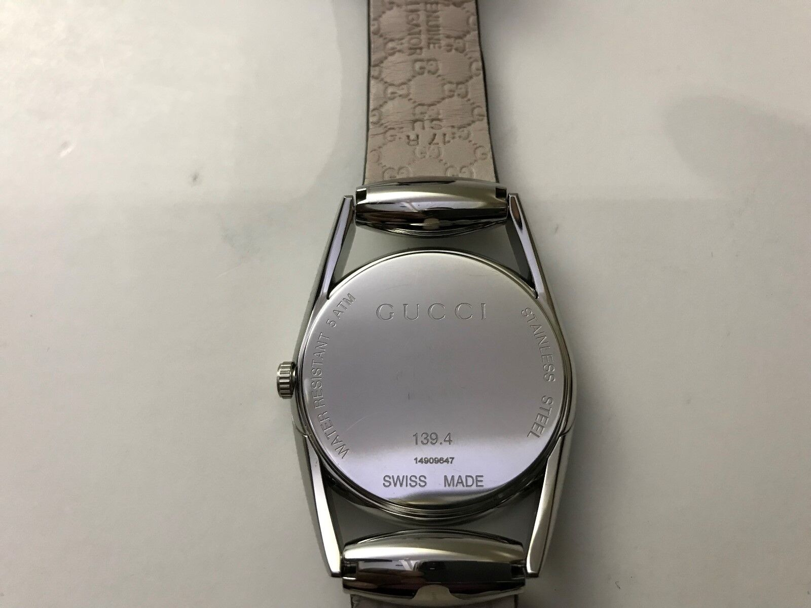 cba4fd8cd50 Gucci YA140506 Horsebit Quartz Stainless Steel and Leather Black Women s  Watch for sale online