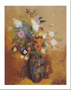 Bouquet Of Flowers by Odilon Redon 20x16 Museum Art Print Poster
