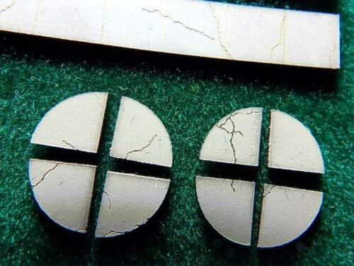 N Scale Sidewalk Aged Cracked Deteriorated Laser Etched 448 Scale Feet Acrylic