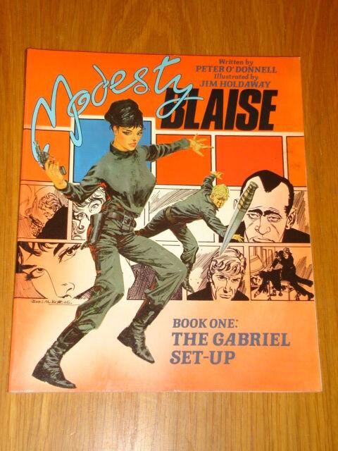 MODESTY BLAISE GABRIEL SET-UP BOOK 1 TITAN BOOKS PETER O'DONNELL< 9780907610373
