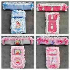 Handmade 1//12th scale Dolls House Winnie Pooh BEDDING set for a cot various.
