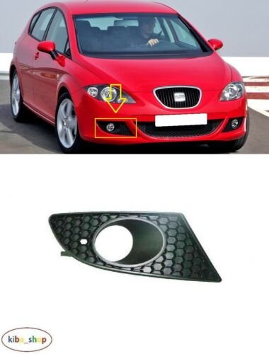 FOR SEAT LEON 1P1 2005-2009 FRONT BUMPER FOG LAMP GRILL RIGHT O//S WITH HOLE