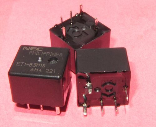 3 Pcs NEC ET1-B3M1S Single Sealed Automotive Relay 12VDC 225 OHM 1 Form C SPDT M