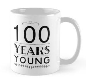 100 100th Anniversaire Petite Idée Cadeau Drôle Tasse Mugs Cadeau Grand-père Grand-mère-afficher Le Titre D'origine Promouvoir La Santé Et GuéRir Les Maladies