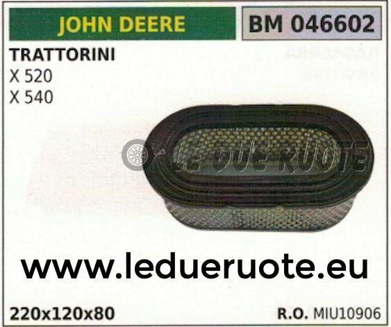 MIU10906 FILTRO ARIA TRATTORINO RASAERBA JOHN DEERE X 520 540 220x120x80