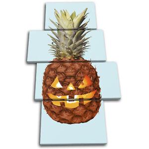 Halloween-Pineapple-Fruit-Food-Kitchen-MULTI-CANVAS-WALL-ART-Picture-Print