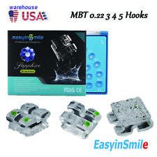 Dental Mbt 022 345 Hook Clear Sapphire Braces Monocrystalline Brackets 1pack