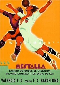 a6f310805 Image is loading 1932-Spanish-Soccer-Poster-Valencia-vs-F-C-Barcelona-