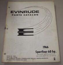 Parts Catalog Evinrude Sportfour 60 HP Ersatzteilkatalog ET Katalog Stand 1966!