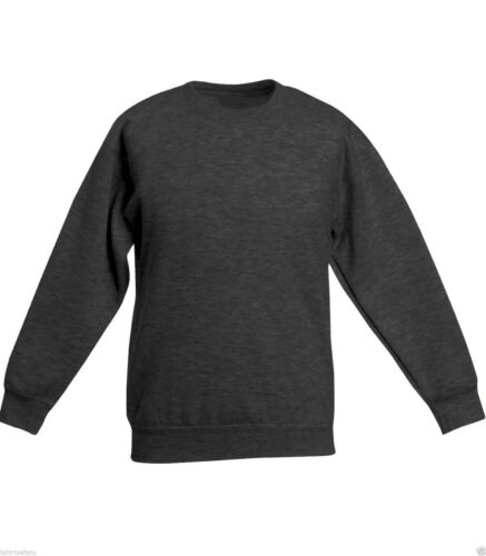 Charcoal Grey Sweatshirt Childrens Boys Girls Sizes  Poly//Cotton Made in The UK