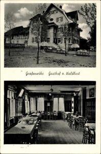 Alte-AK-PK-Postkarte-gelaufen-Foto-SW-Grafenwoehr-Gasthof-zur-Waldlust-Feldpost