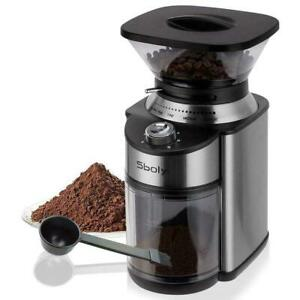 Sboly Conical Burr Coffee Grinder Stainless Steel 19 Settings 2-12 Cups