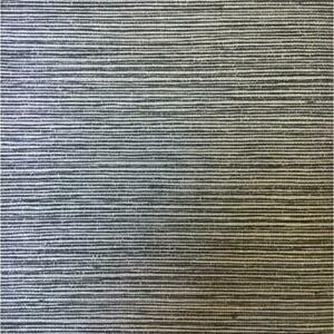Wallpaper-Vinyl-Faux-Grasscloth-Sisal-Look-Metallic-Silver-on-Dark-Gray
