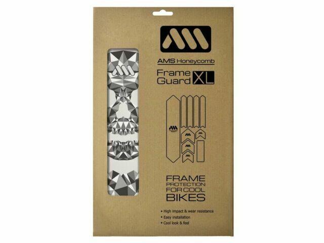 Black//Bull  #AMSFG2BKBU XL All Mountain Style AMS Honeycomb Frame Guard EXTRA