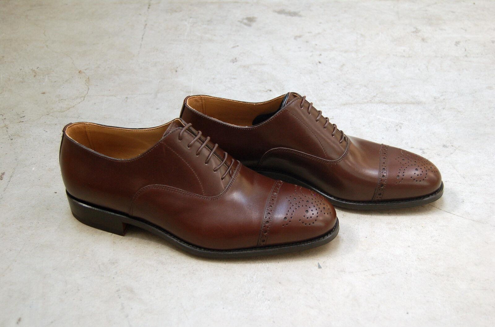 MAN - 40 - 6eu - OXFORD CAPTOE CAPTOE OXFORD PERFS&MED- CHOCOLATE BROWN - LTH SOLE cb3779