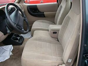 1991 1997 Ford Ranger Explorer 60 40 Bench Seat Car Seat Covers In Tan Twill Ebay