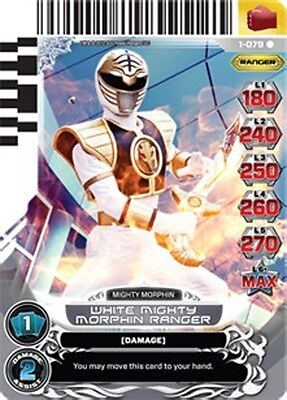 POWER RANGERS CARD RISE OF HEROES : White Mighty Morphin Ranger 079