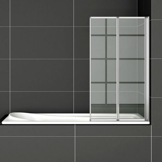 Duschabtrennung Badewannenaufsatz Faltwand Duschwand 180° drehbar 80/100/120cm