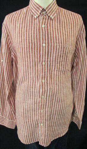 BRAX Camicia manica lunga taglia L XL Rosso-Bianco A Strisce UVP 59,95 €