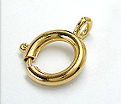 Anhängerschlaufe 8 mm Gold 333 eine Öse Gold 333 kleine Anhängeröse Kettenöse