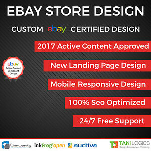 Mobile Responsive Ebay Store Design Auction Listing Template - Ebay store design templates free