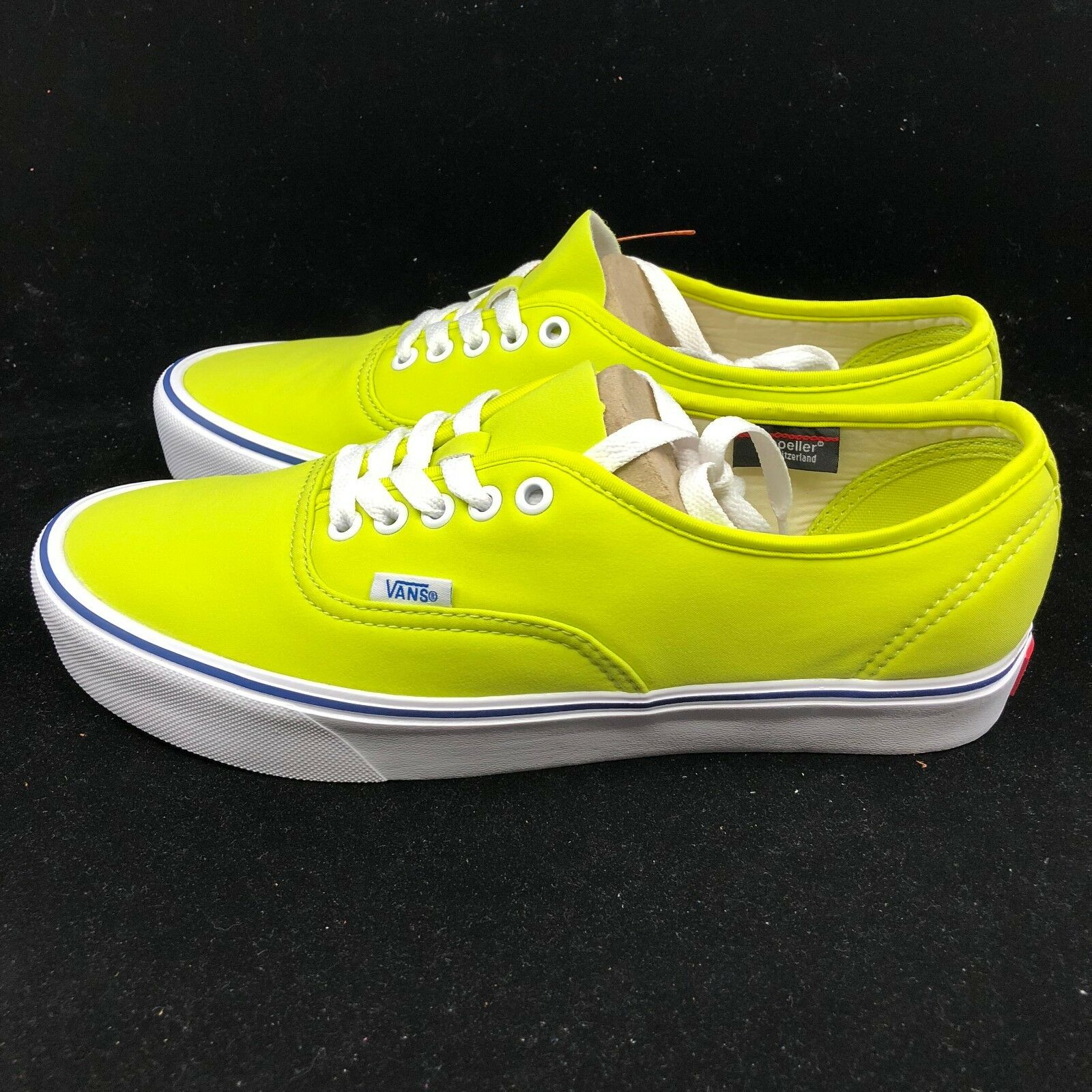 Vans Authentic 66 Lite Schoeller Tennis Neon Green Yellow White VN0A38EON7W