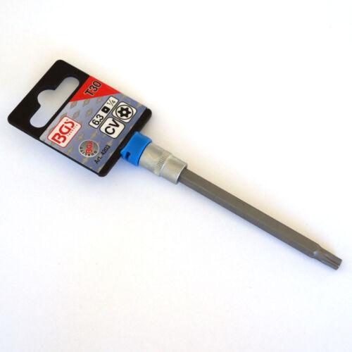 "Bgs 6,3 mm bit-uso perfil en T TORX t30 con orificio de 100 mm de longitud bit 1//4/"""