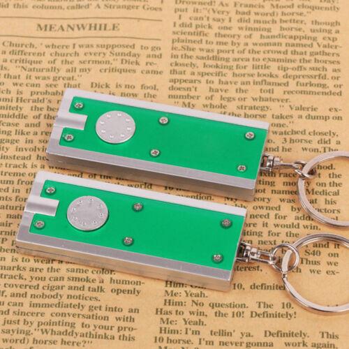 5pcs Super Bright Light Mini LED Flashlight KeyRing Key Chains Lamp Random