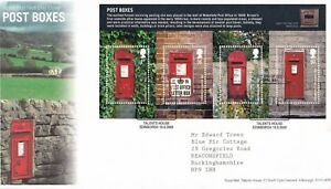 First-Day-Cover-GB-2009-POST-BOXES-ROYAL-MAIL-Tallents-House-Typed-Address-UK