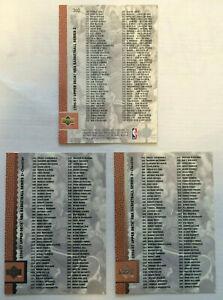 MICHAEL JORDAN LOT of 3 MINT POTENTIAL 1996-97 UPPER DECK checklist card HOF CHI