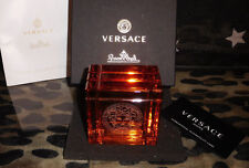 Rosenthal Versace Medusa Prisma Amber Paperweight Briefbeschwerer  Neu & Ovp