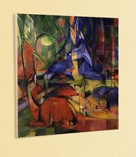 Blauer Reiter Franz Marc caprioli nel bosco II 1914 stampa d'arte 18 sul disco trascinato