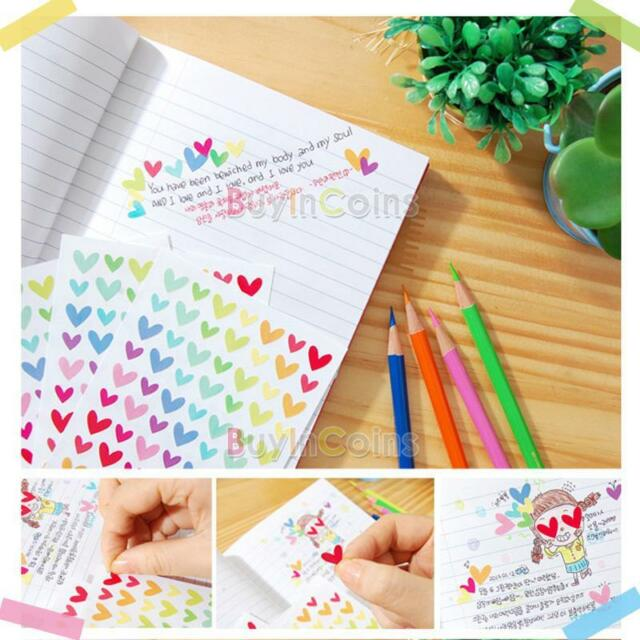 Cute Rainbow Sticker Diary Planner Journal Scrapbook Ablums Decorative Durable