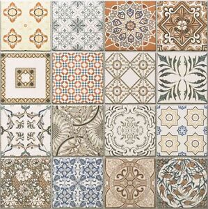 Image Is Loading 45x45 Cm Porcelain Moroccan Style Floor Amp Wall