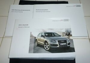 2011 audi q5 owners manual set 11 q 5 guide w case ebay rh ebay com owners manual audi q5 2015 owners manual audi q5 2012