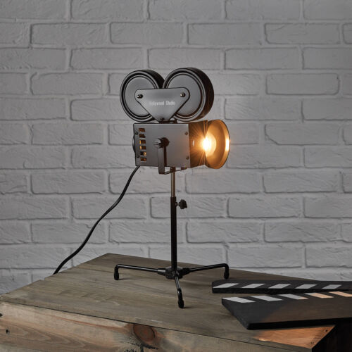 Black Height 43.8cm Lightweight and durable Director Camera Desk Lamp
