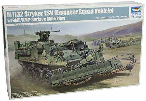 M1132 Stryker Engineer Squad Vehicle (ESV) + Surface Mine Mine Mine Plow Plastic Kit 1 35 059b12