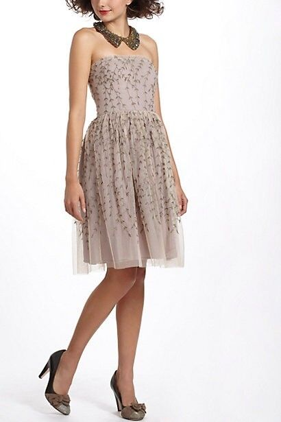 Anthropologie Project Alabama Boston Ivy Dress 12 NEW embroiderot vine L large