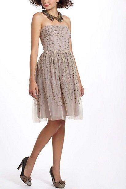 Anthropologie projekt Alabama Boston Ivy Dress 12 ny broderad vinranka L stor