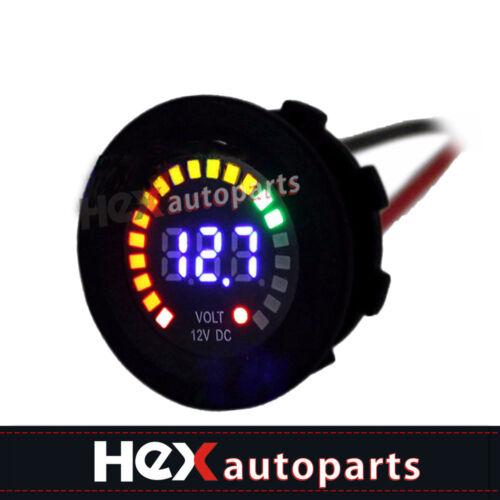 DC 12V Car Motorcycle Blue LED DC Digital Display Voltmeter Waterproof Meter